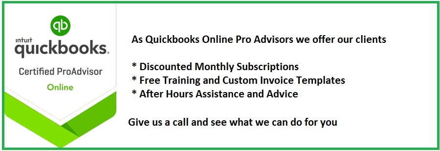 We are Quickbooks Online ProAdvisors